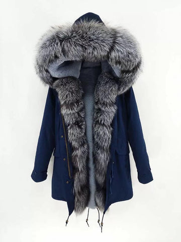 Carmen Charlott Luxury Men Parka Blue - AW19