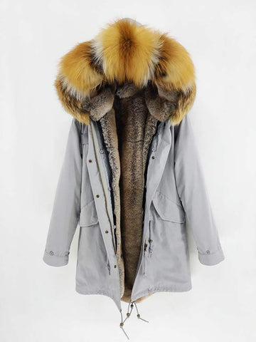 Carmen Charlott Men Parka Grey - AW19