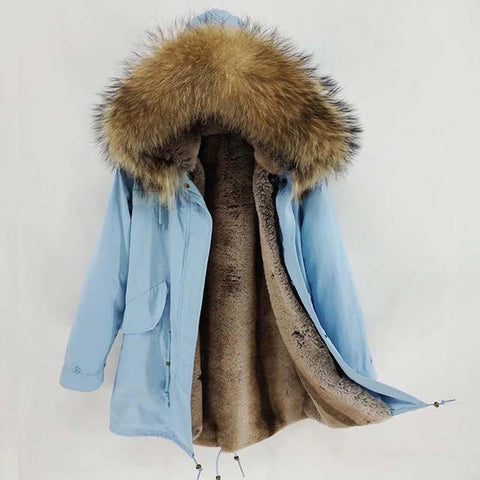 Carmen Charlott Men Parka Light Blue - AW19