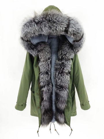 Carmen Charlott Luxury Men Parka Green - AW19