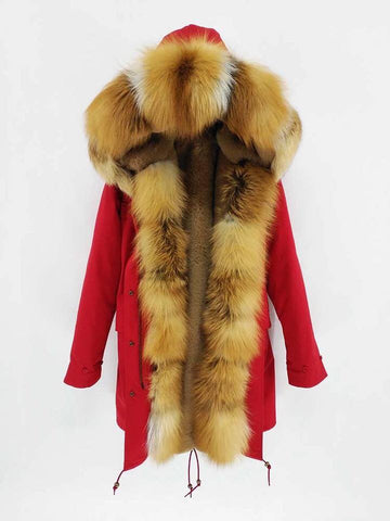 Carmen Charlott Luxury Men Parka Red - AW19