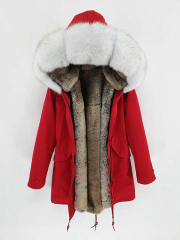 Carmen Charlott Men Parka Red - AW19