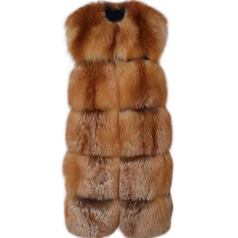 Carmen Charlott Fox Fur Vest - Gold Fox