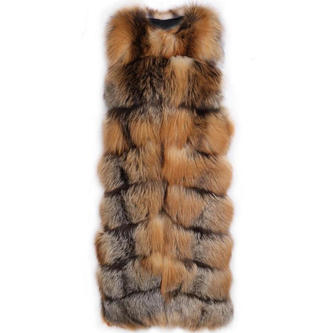 Carmen Charlott Luxury Gold Fox Fur Vest - AW19