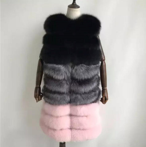 Carmen Charlott Fox Fur Vest - 3 Colors