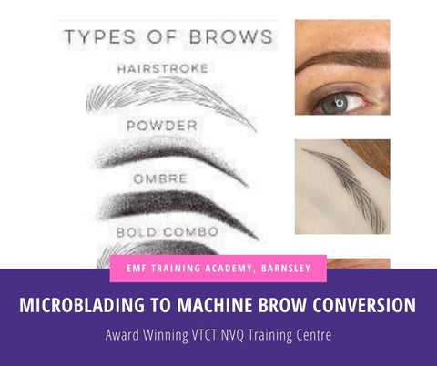 Microblading To Machine Brow Conversion