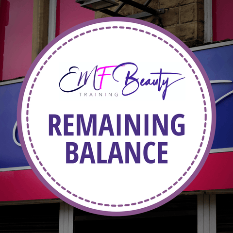 Spray Tanning Course - Remaining Balance