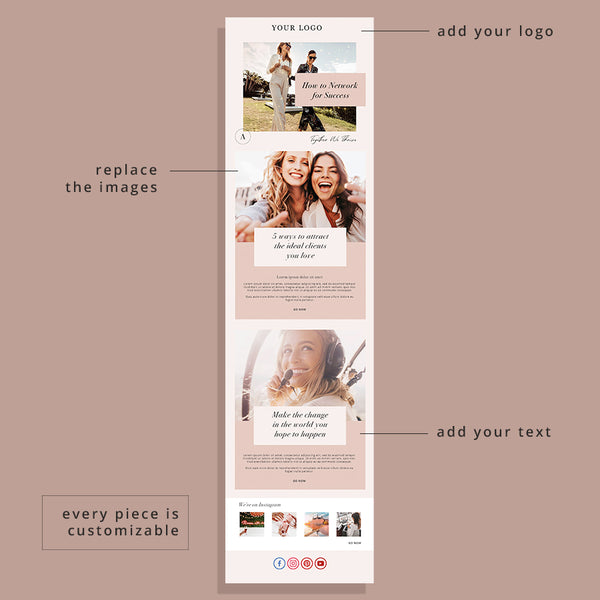 Blush Vibes Email Template