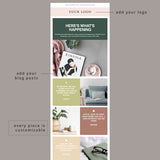 Colorblock Email Template for Bloggers