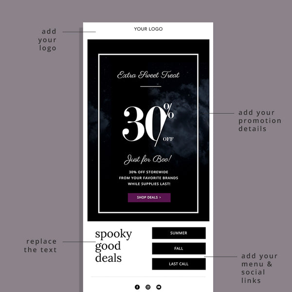 Halloween Vibes Email Template