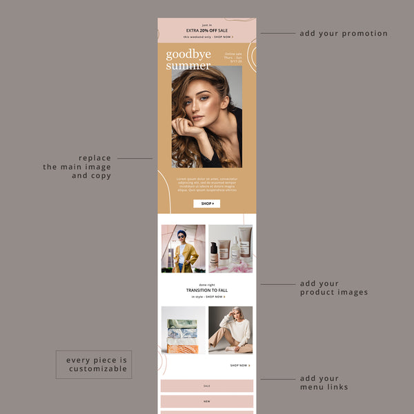 Honey Vibes Email Template