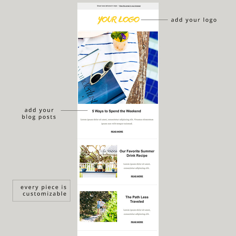 Lifestyle Blog Email Template