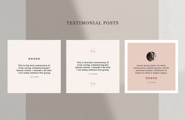 Blush Vibes Instagram Template Pack