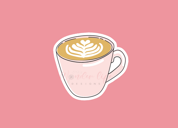 Coffee Girl Vinyl Sticker