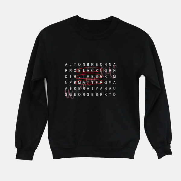 Black Lives Matter Crossword Sweatshirt (UNISEX)