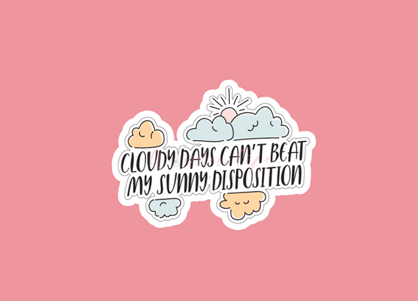Cloudy Days Vinyl Sticker