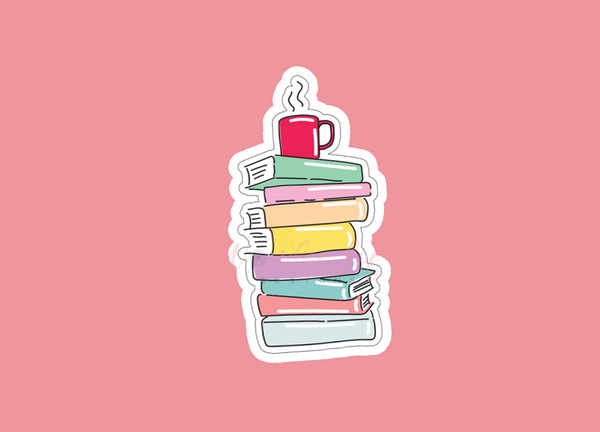 Stack of Books Vinyl Sticker