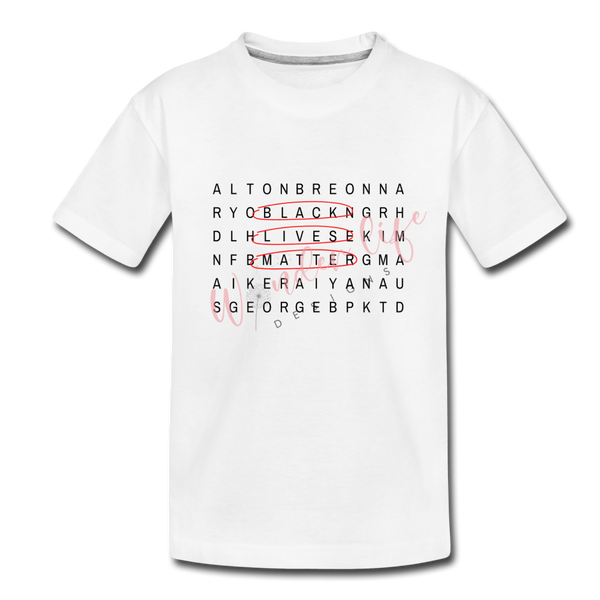 Black Lives Matter Crossword T-Shirt (KIDS)