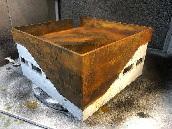 Rust effect showing on the MDF terrain