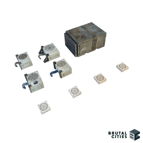 Air conditioning units for miniature scenery.