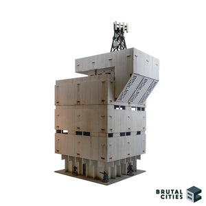 MDF Wargaming terrain modular skyscraper tower