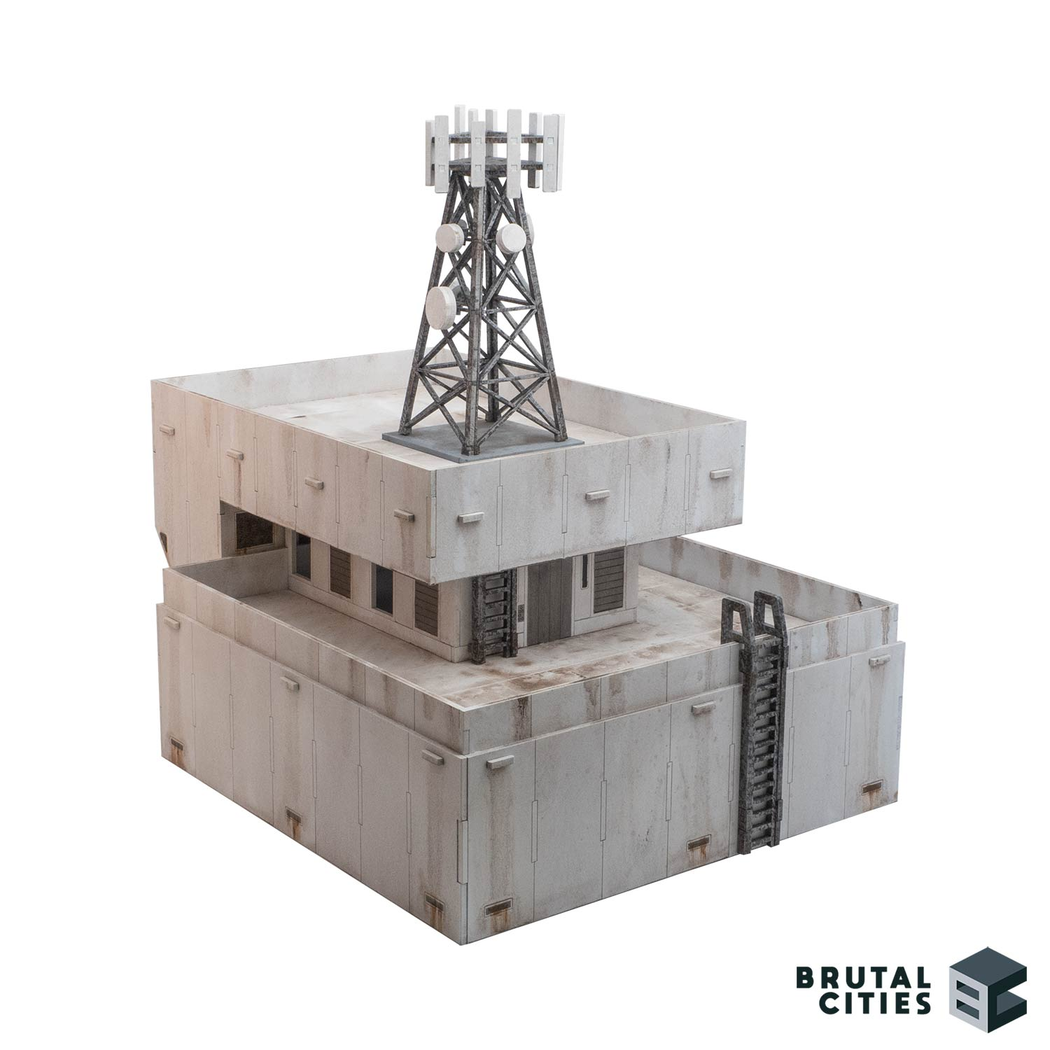 Futuristic comms tower and roof module
