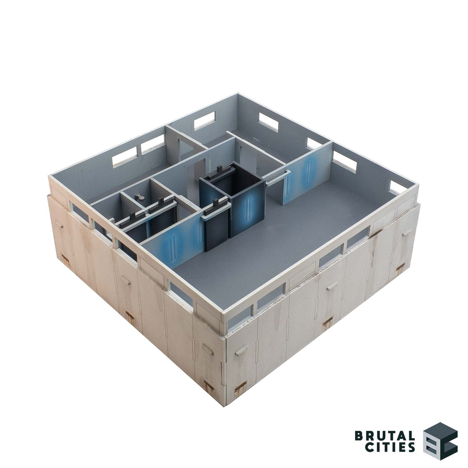 Interior wall terrain for wargaming