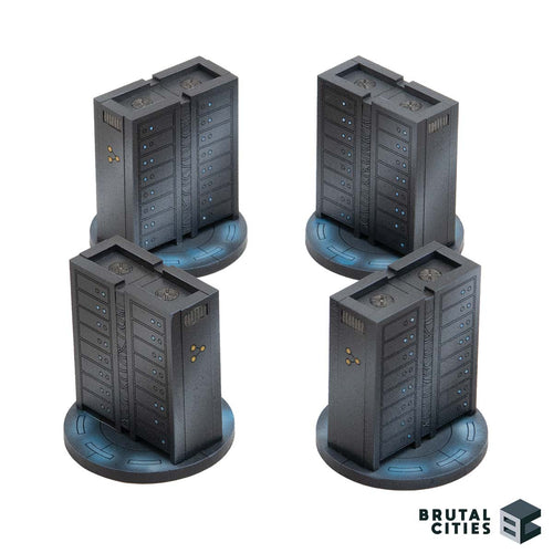 40mm MDF cyberpunk, miniature gaming, sci-fi terrain objectives