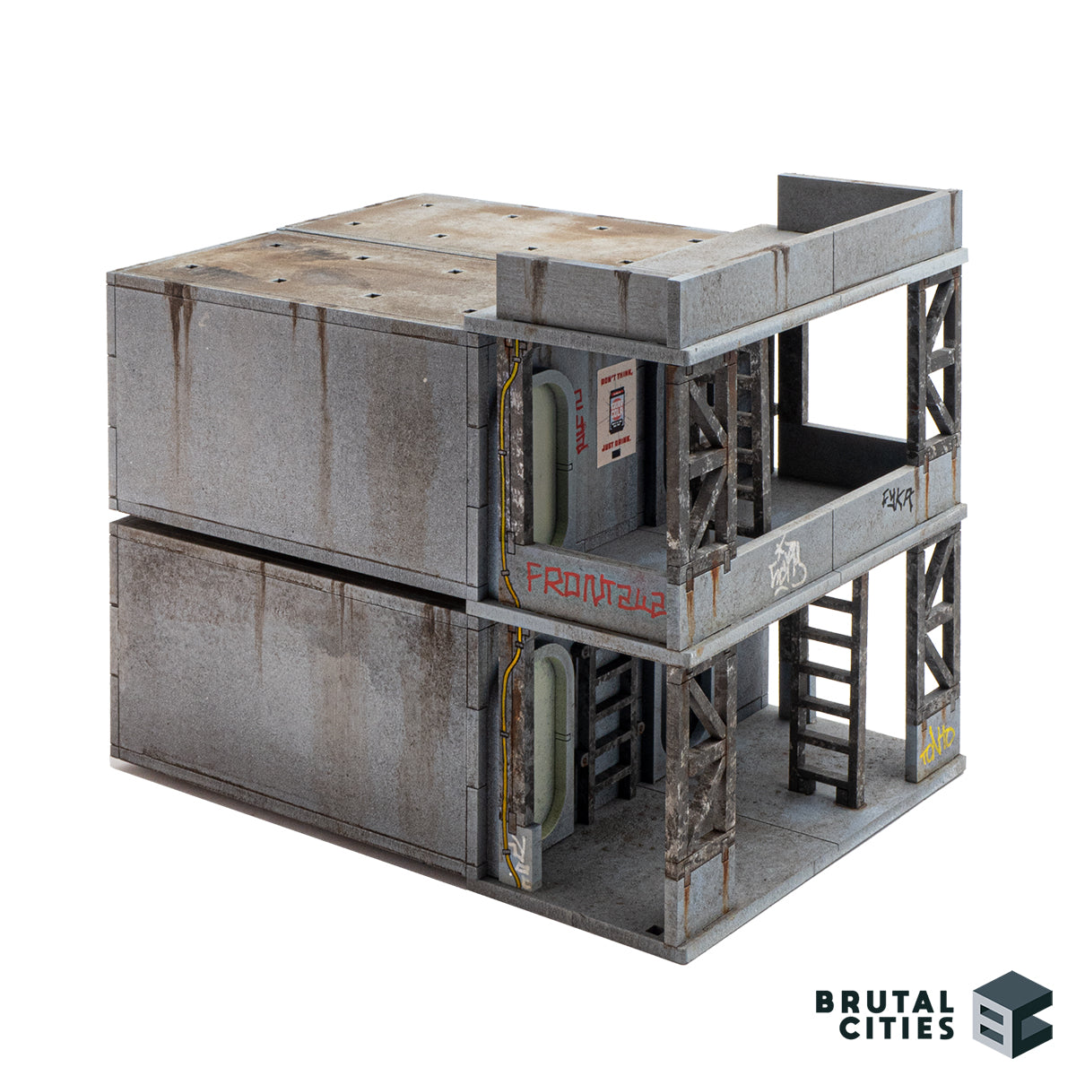 Capsule housing and scaffolding terrain combined together
