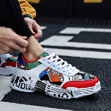 Load image into Gallery viewer, White Grafiti shoes - Sneakers Clearance sale