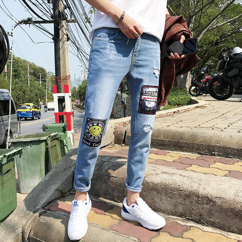 Patch Denim Limited Edition Strip Denim - Casual theme - 100% Cotton Street Wear 24 Hour Clearance Sale