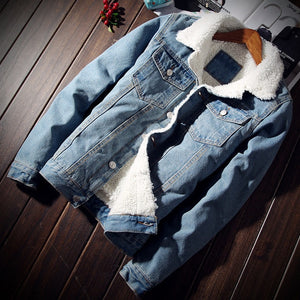 Denim Ice Blue Fur Jacket - Street Wear- 24 Hour Clearance Sale