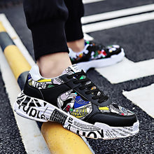 Load image into Gallery viewer, Graffiti Black - Sneakers Clearance sale Shoes