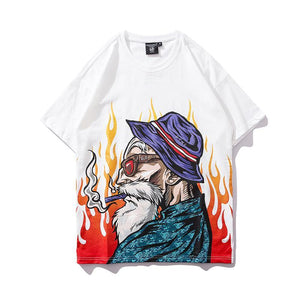 Super Saying White Digital Print Hip Hop T-Shirt - Premium Wear on Discount