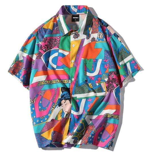 Multi Colour Thick print shirt - Street Wear- 24 Hour Clearance Sale hslop