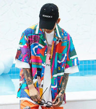 Load image into Gallery viewer, Multi Colour Thick print shirt - Street Wear- 24 Hour Clearance Sale hslop