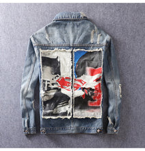 Load image into Gallery viewer, Patch Denim Rugged Jacket Jacket - Street Wear- 24 Hour Clearance Sale