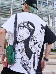 Back Print Girlfriend Digital Print Hip Hop T-Shirt - Premium Wear on Discount