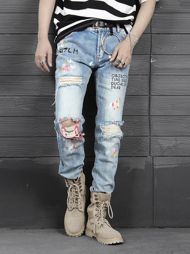 Printed Premium denim - 100%  Street Wear