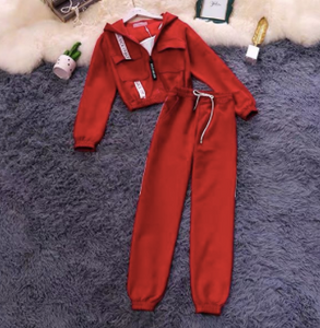 Jacket and bottom Red set of two  womans wear