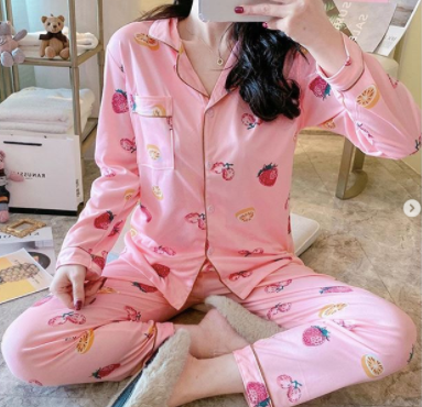 Pink Fruit design limited Edition nightsuit womans wear