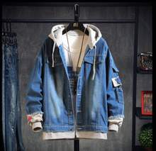 Load image into Gallery viewer, Indigo Denim Jacket on clearance sale - jacket sale