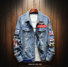 Load image into Gallery viewer, Patch classic 121 denim jacket Denim Jacket on clearance sale - jacket sale