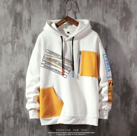 (White)Patch Sweatshirt on clearance sale - jacket sale