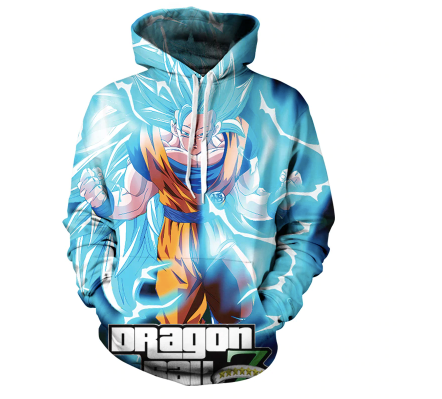 Lite Blue Dragon Ballz 3d Sweatshirt on clearance sale - Jacket Limited offer