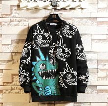 Load image into Gallery viewer, Black Graffiti Sweatshirt on clearance sale - jacket sale