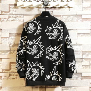 Black Graffiti Sweatshirt on clearance sale - jacket sale