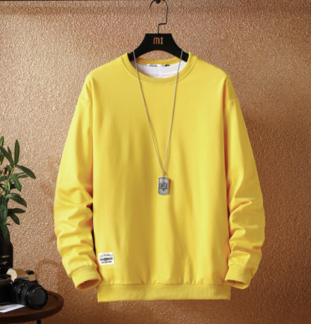 Yellow basic sweatshirt on clearance sale - Jacket Limited offer