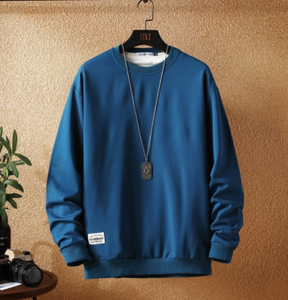 Blue basic sweatshirt on clearance sale - Jacket Limited offer