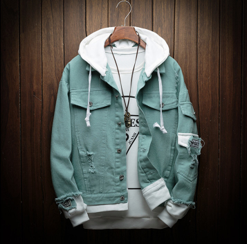 Teal Blue classic Jacket on clearance sale - Jacket Limited offer